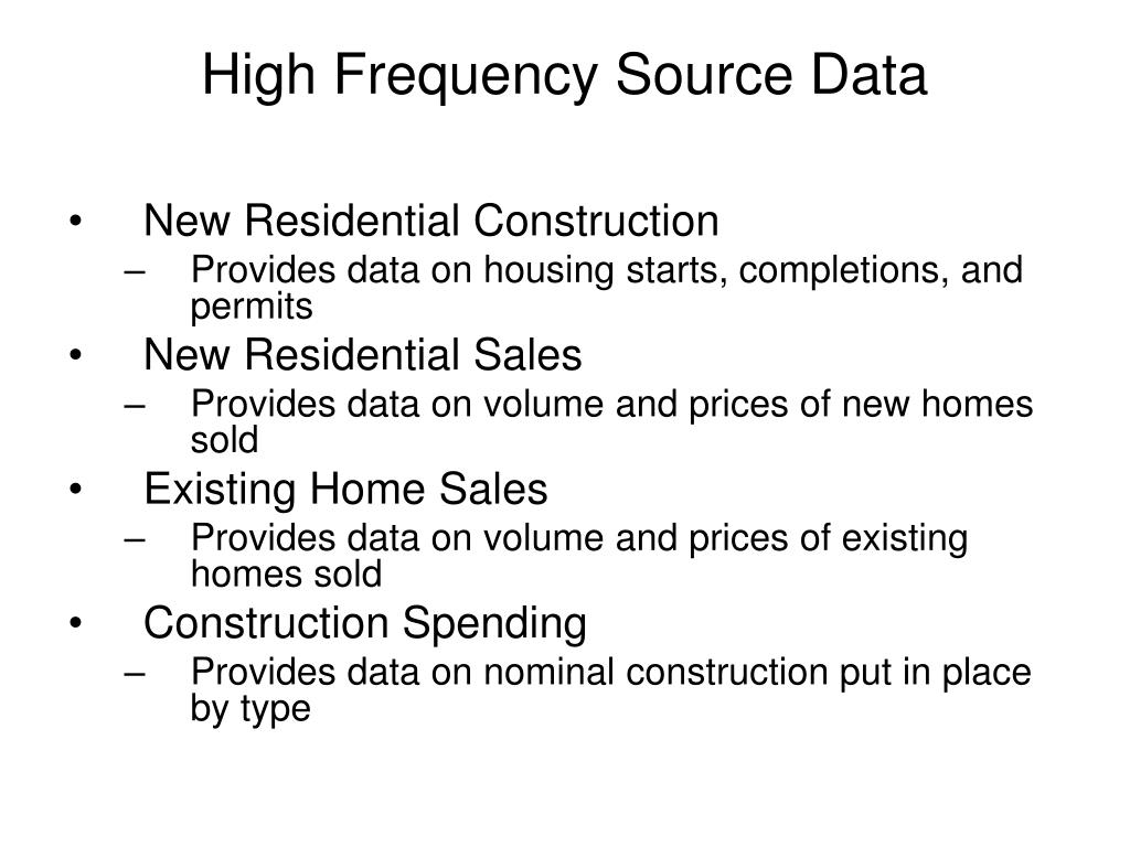 High Frequency Source Data