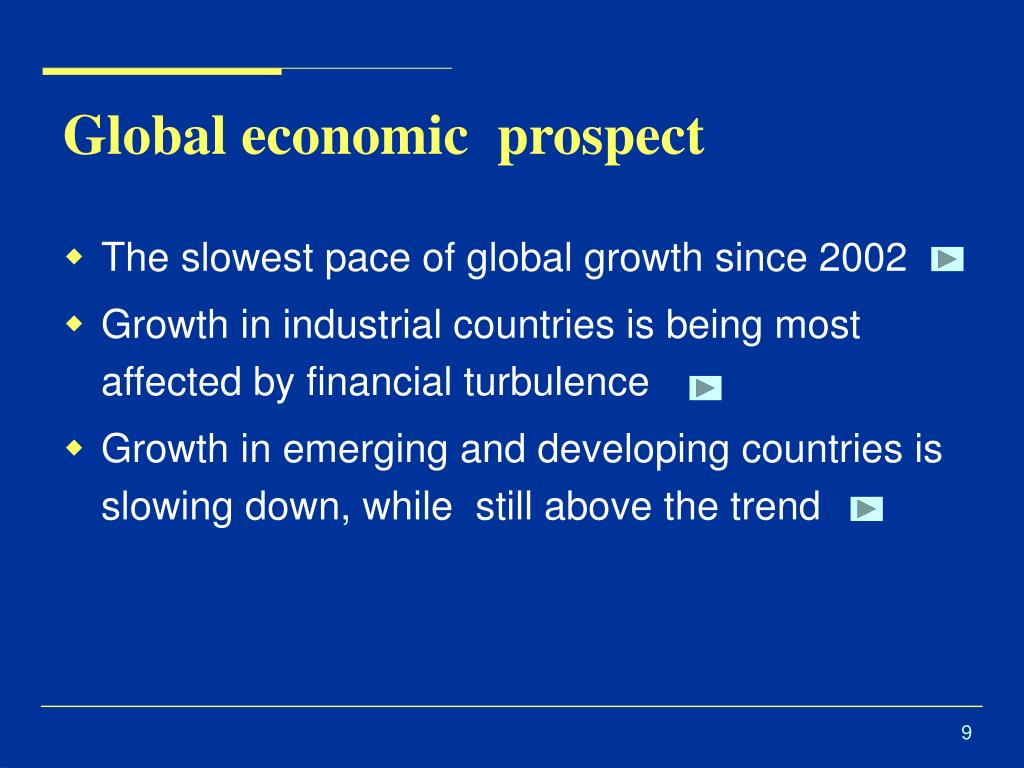 Global economic  prospect