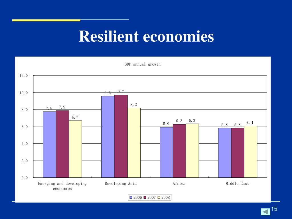 Resilient economies