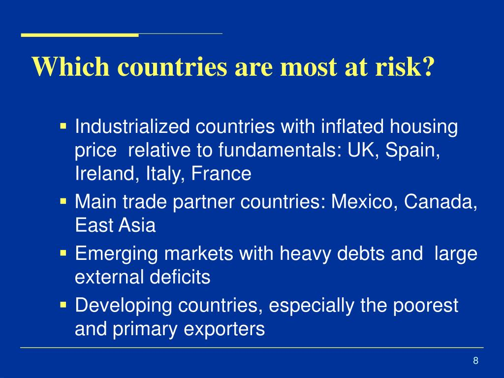 Which countries are most at risk?