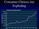 consumer choices are exploding