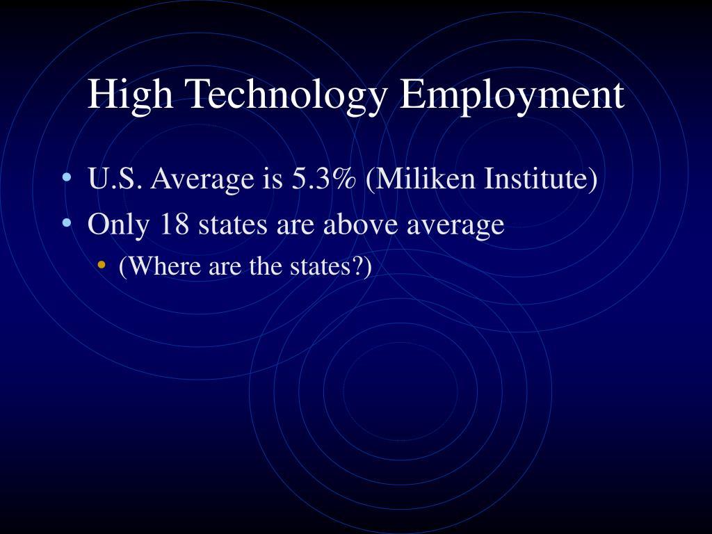 High Technology Employment