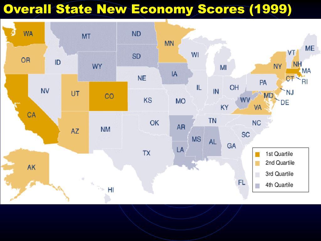 Overall State New Economy Scores (1999)