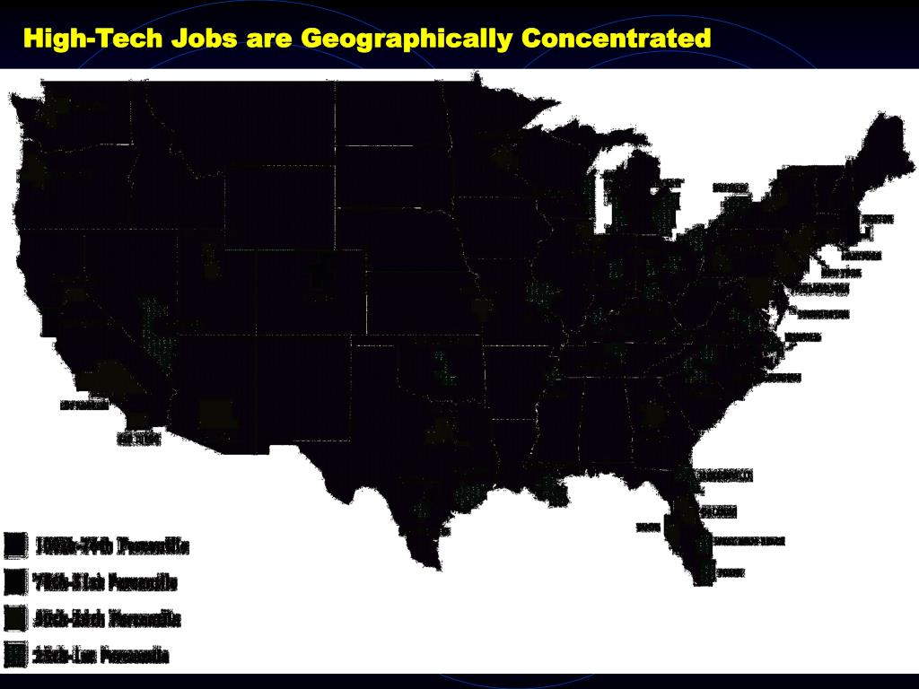 High-Tech Jobs are Geographically Concentrated