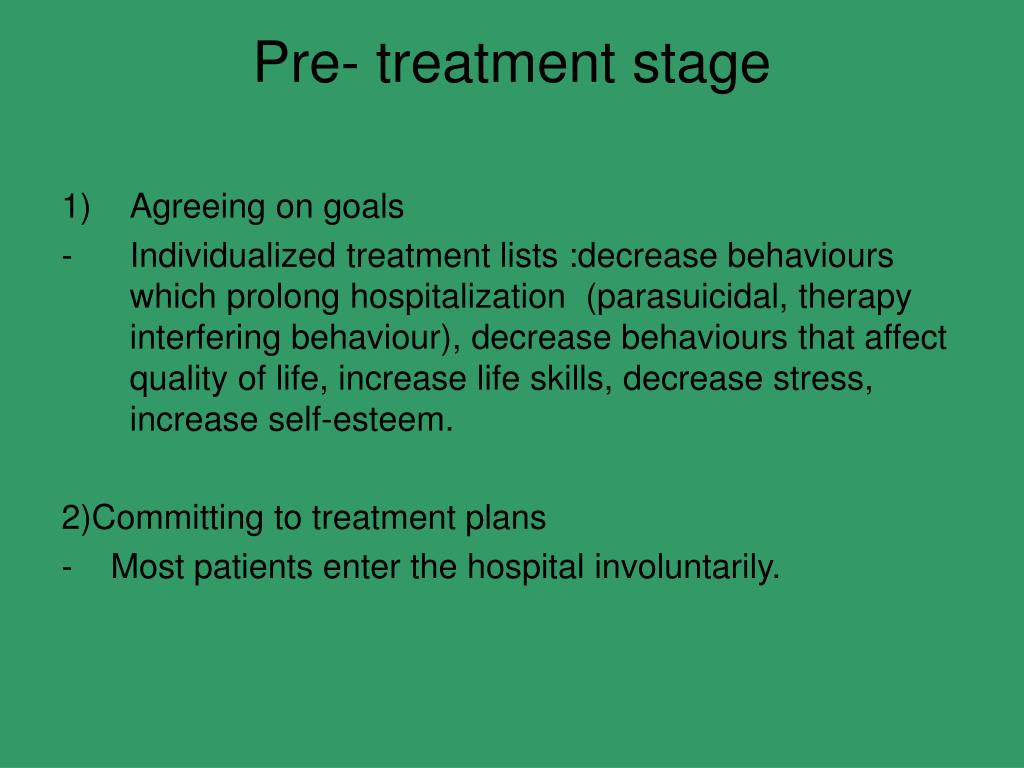 Pre- treatment stage