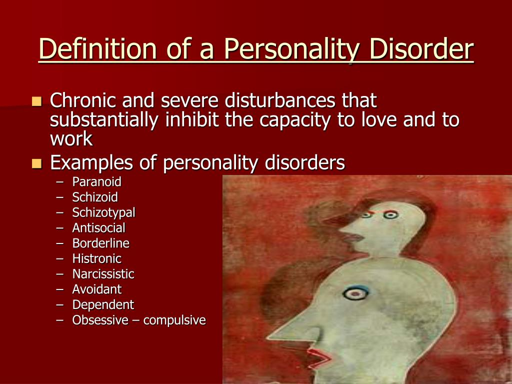 Definition of a Personality Disorder