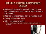 definition of borderline personality disorder