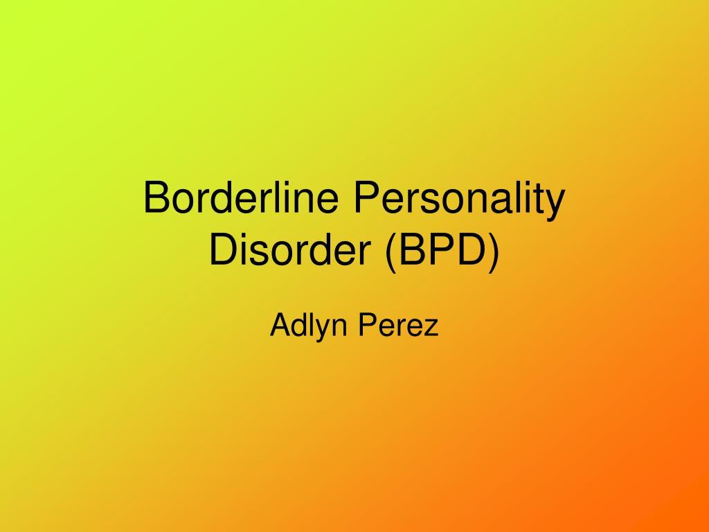 borderline personality disorder bpd