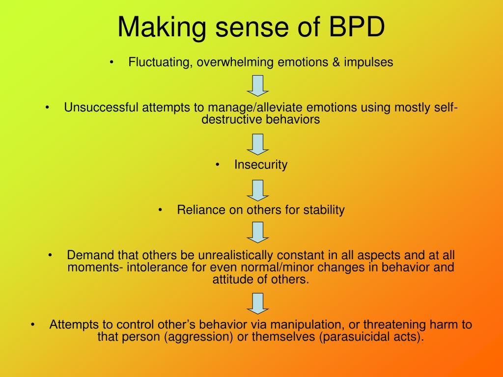 Making sense of BPD