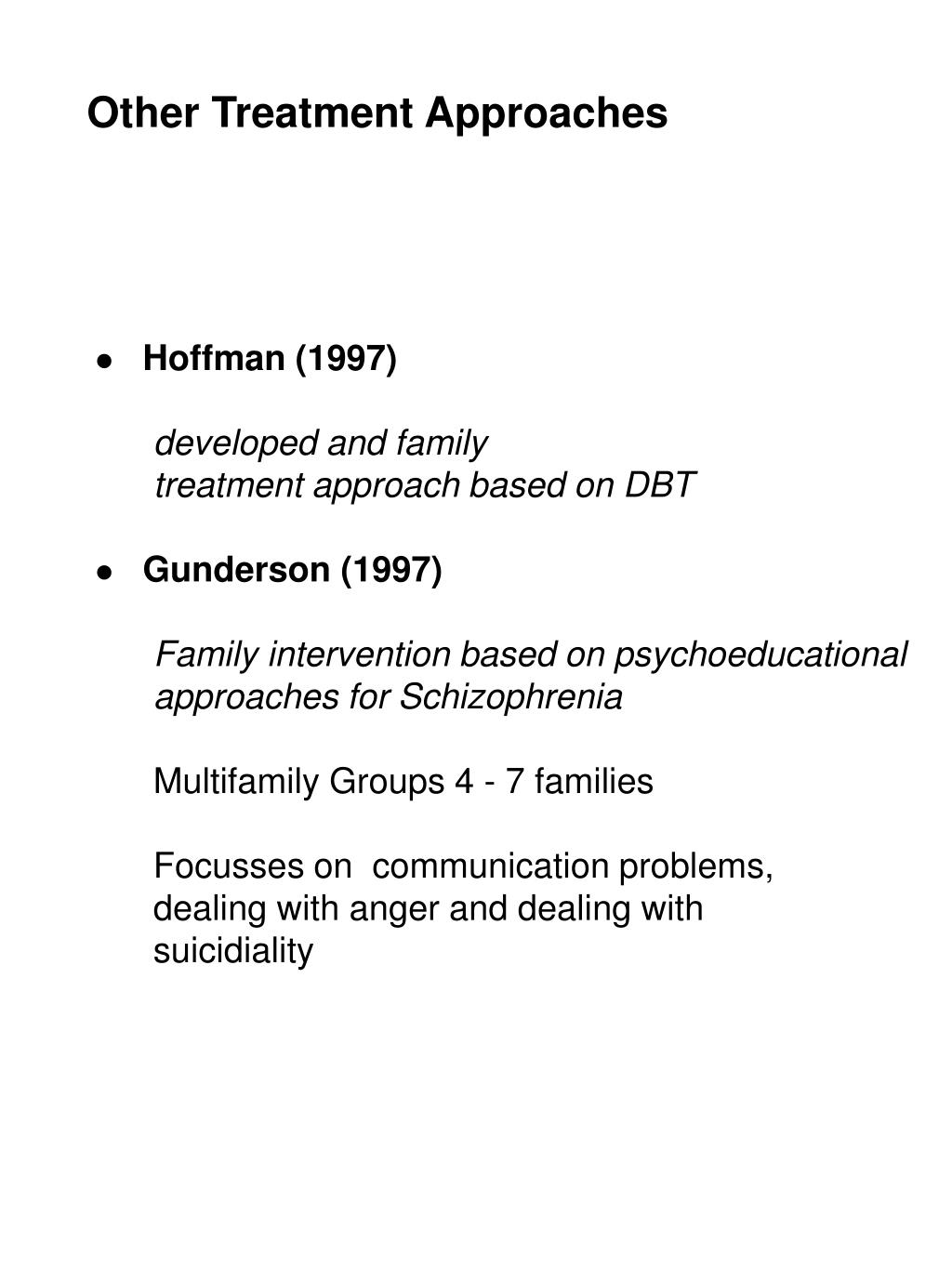 Other Treatment Approaches