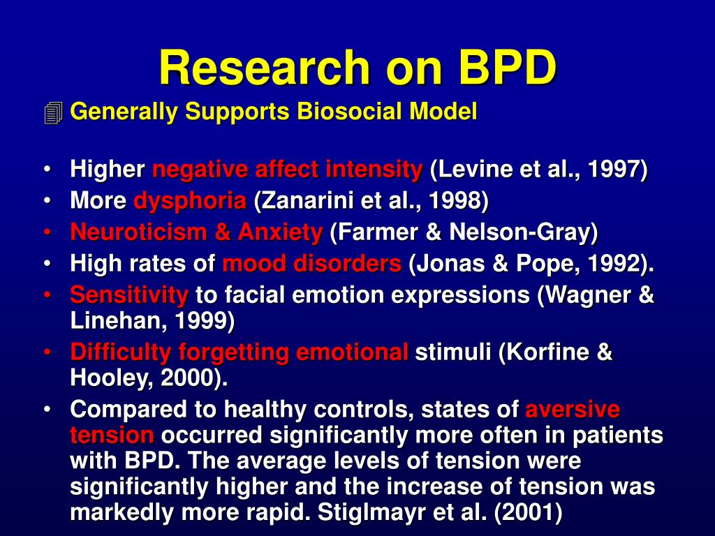 Research on BPD