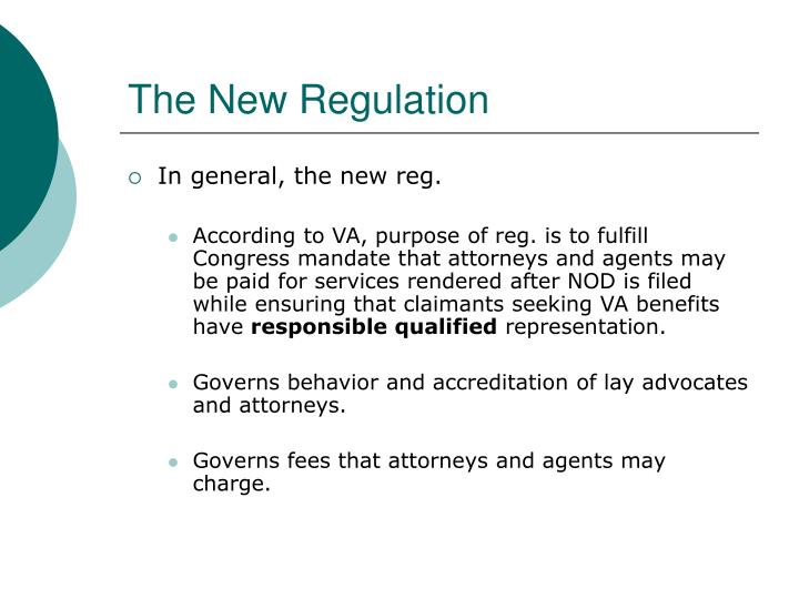 The New Regulation