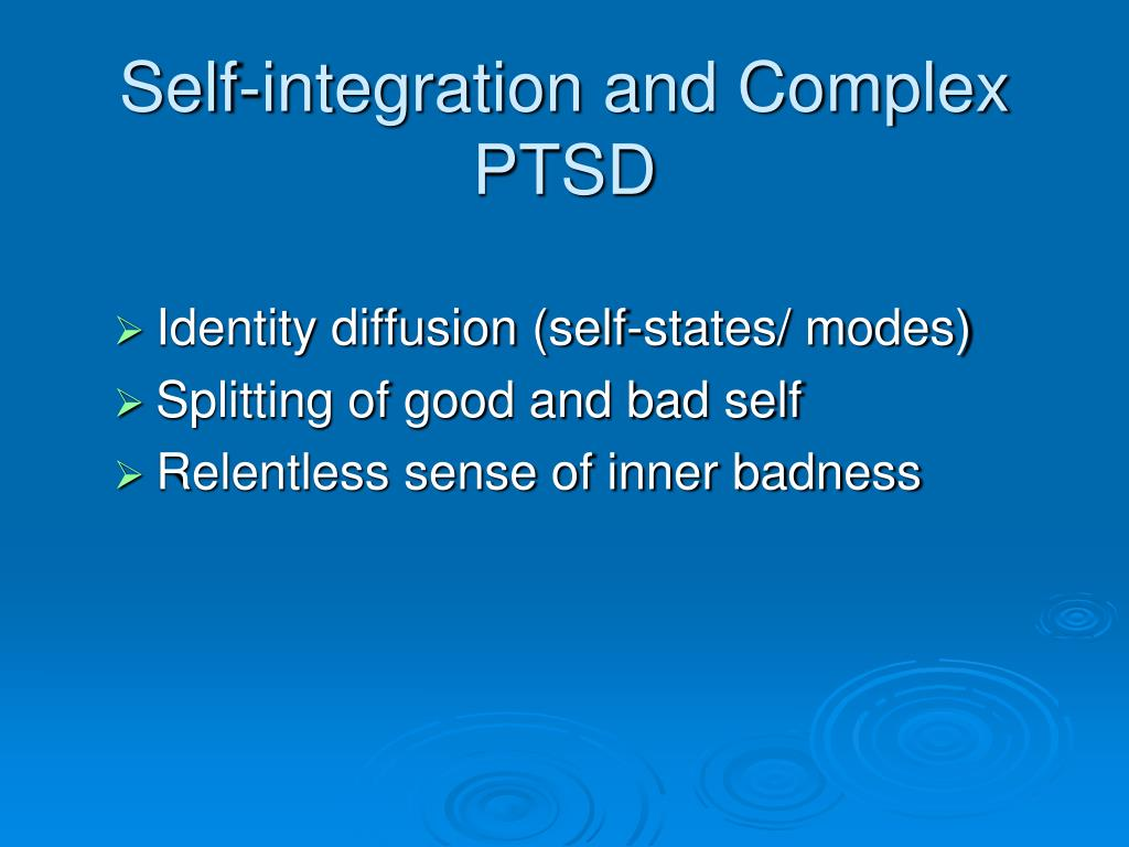 Self-integration and Complex PTSD