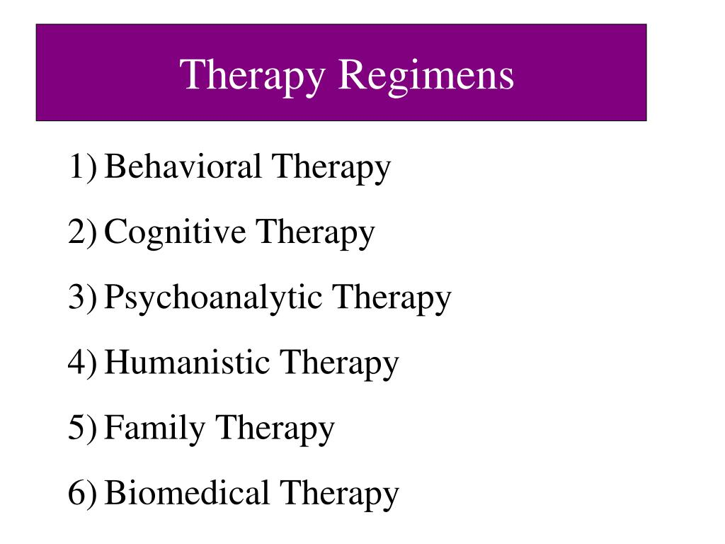 Therapy Regimens