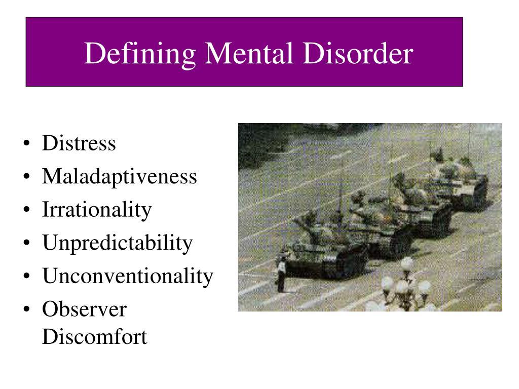 Defining Mental Disorder