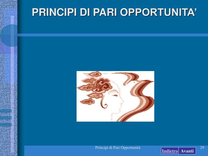 PRINCIPI DI PARI