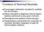 functions of technical neutrality