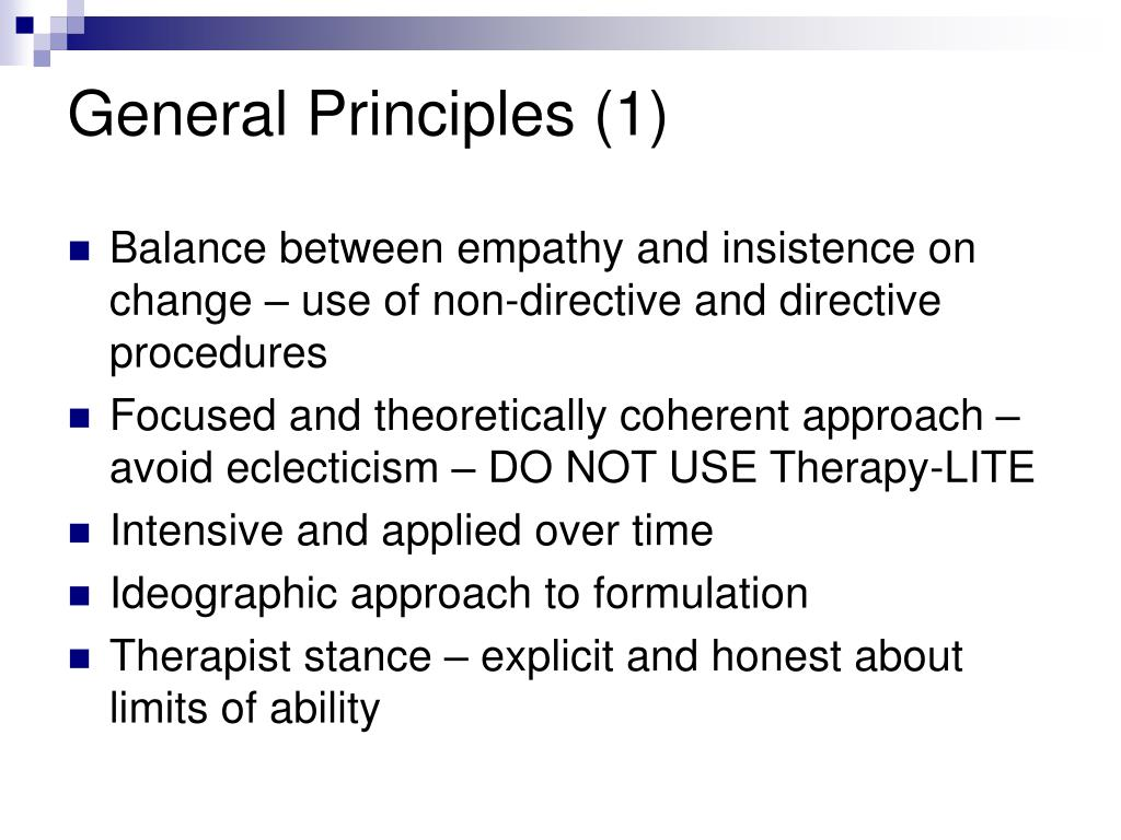 General Principles (1)