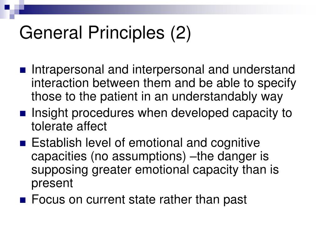 General Principles (2)