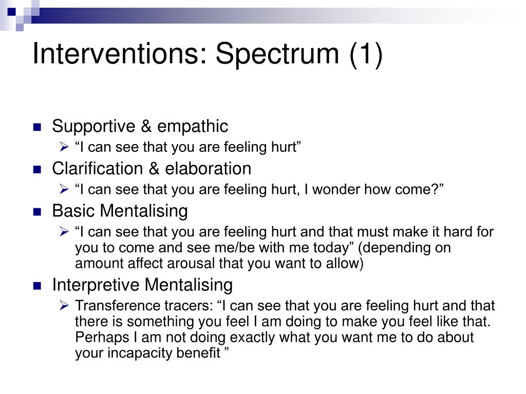 Interventions: Spectrum (1)