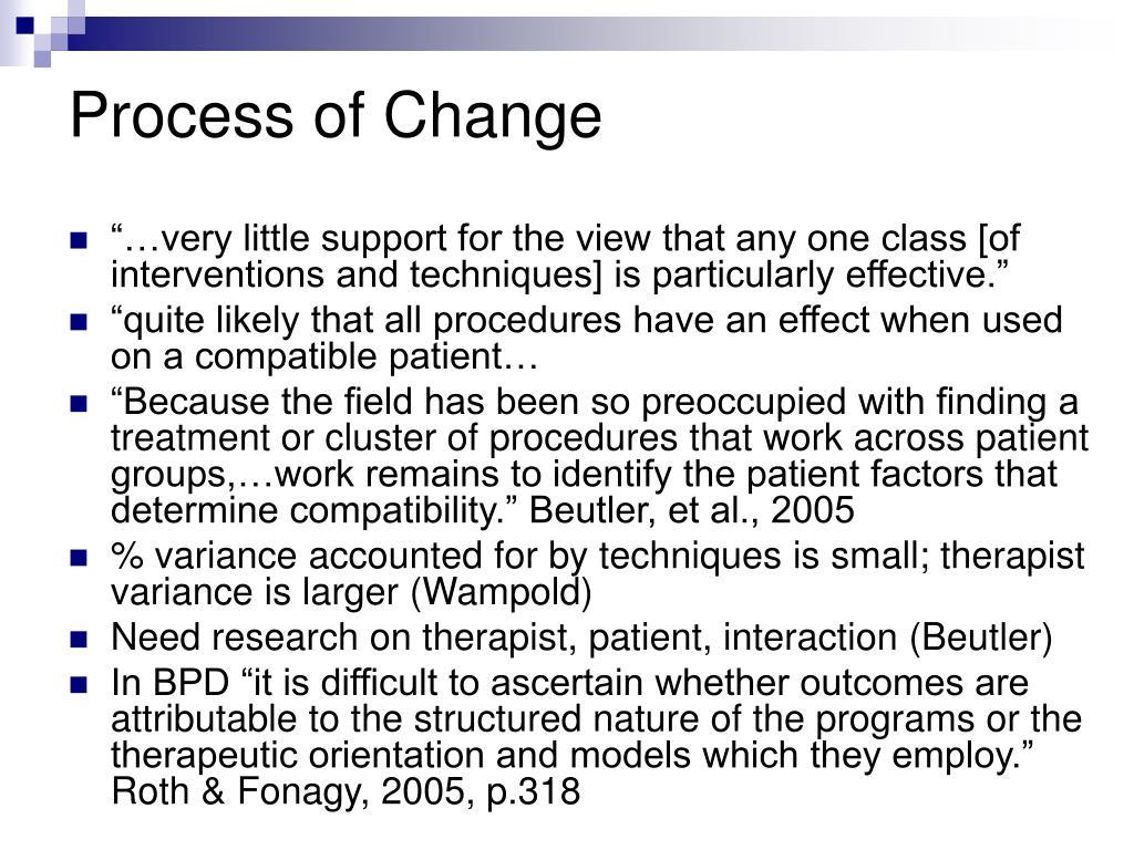 Process of Change