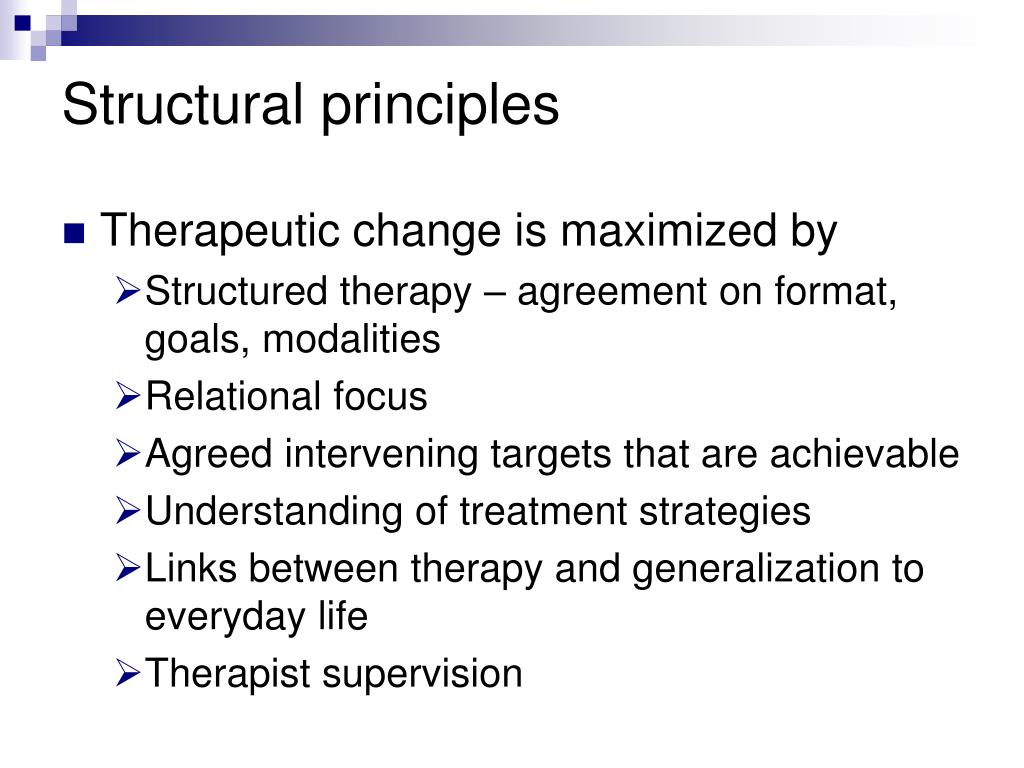 Structural principles