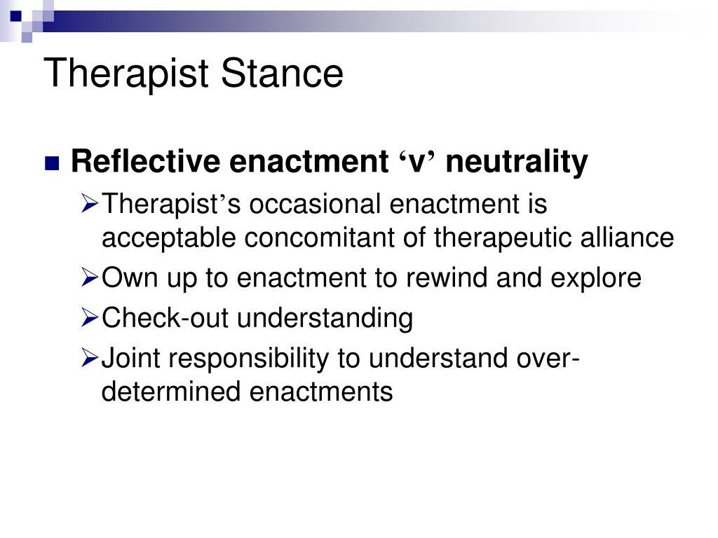Therapist Stance