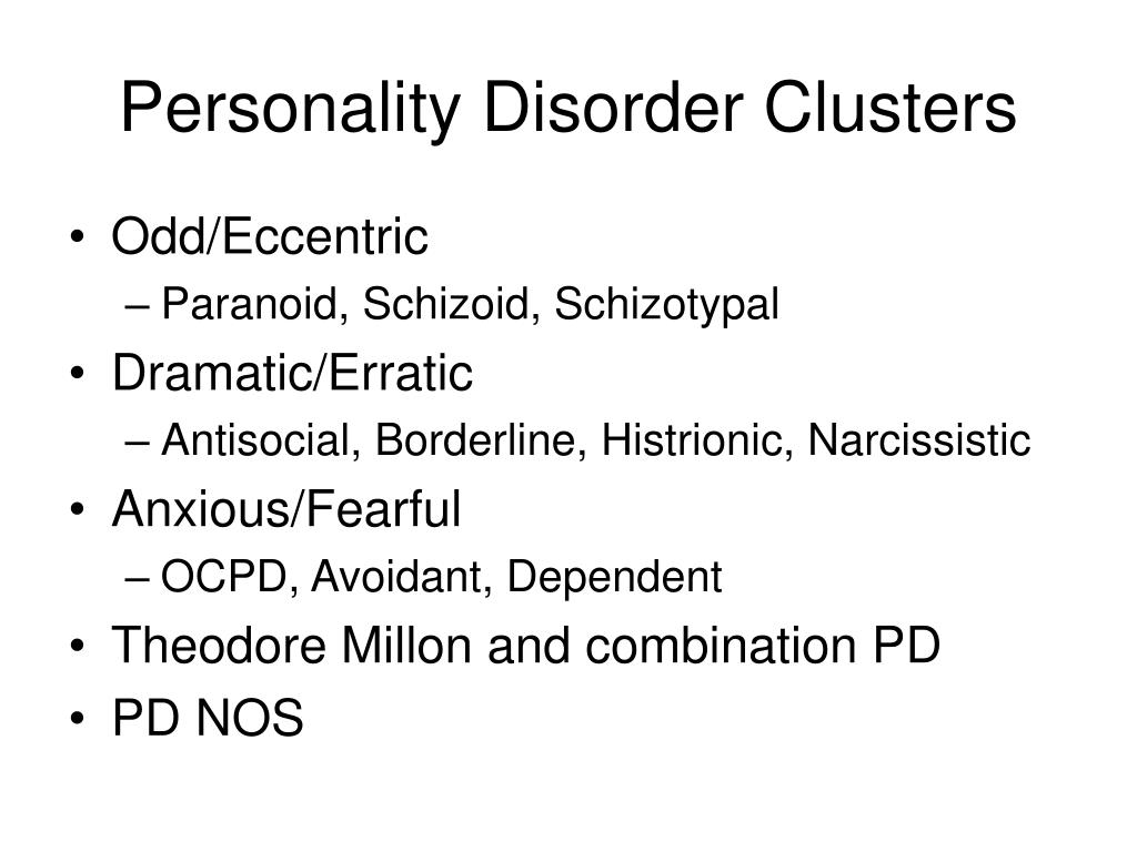 Personality Disorder Clusters