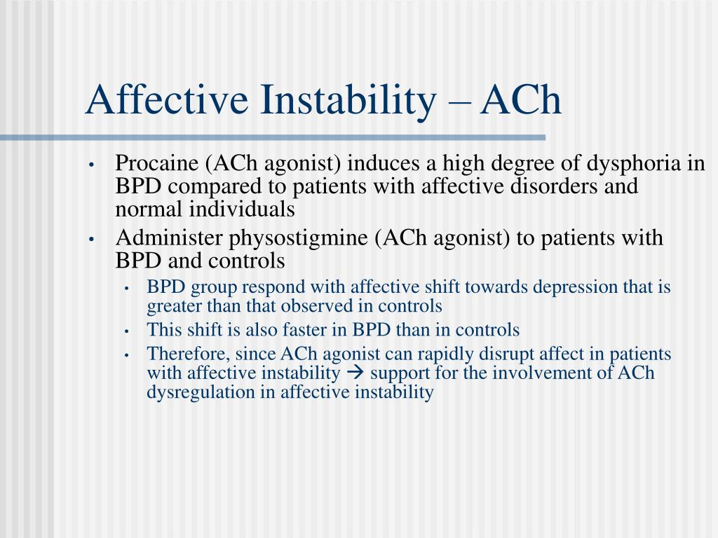 Affective Instability – ACh