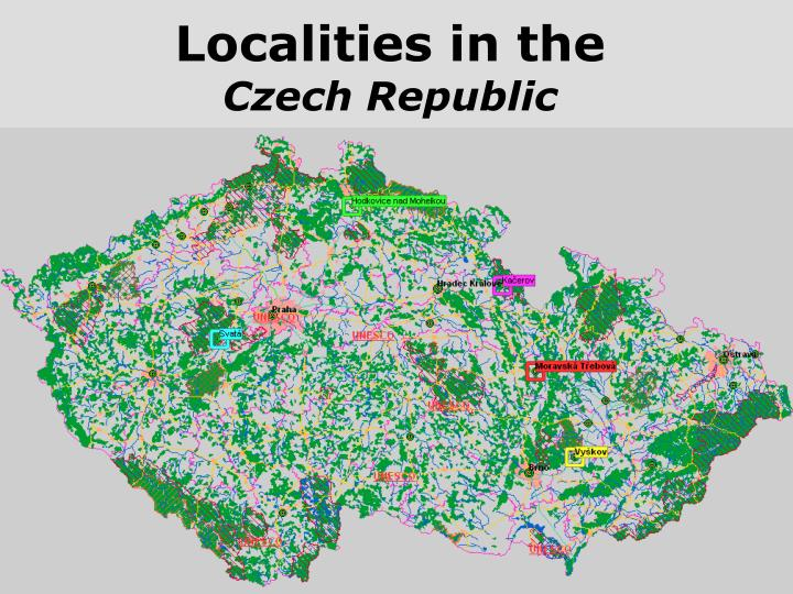 Localities in the c zech r epublic