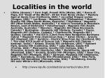 localities in the world