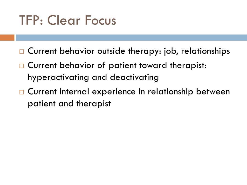 TFP: Clear Focus