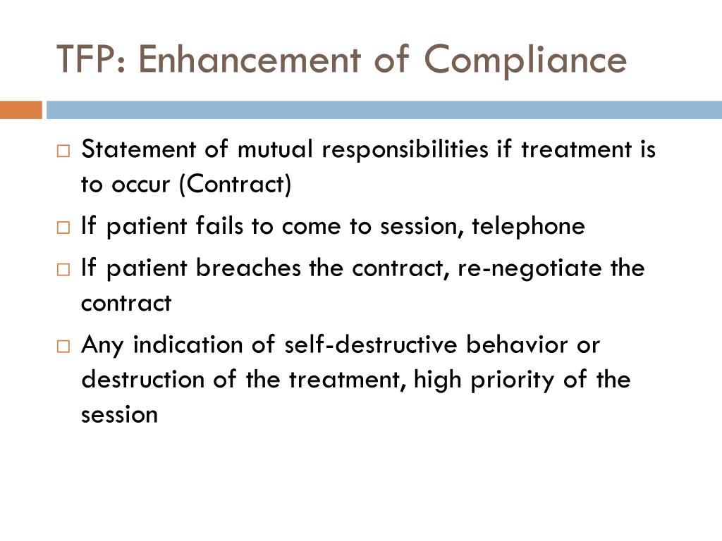 TFP: Enhancement of Compliance