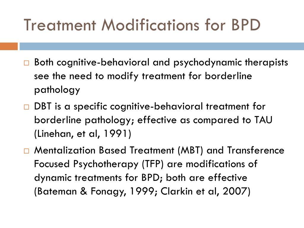 Treatment Modifications for BPD