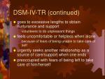 dsm iv tr continued57