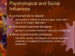 psychological and social influences
