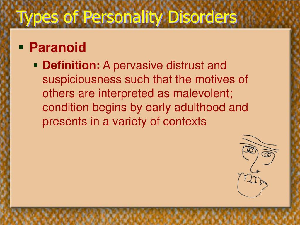 Types of Personality Disorders