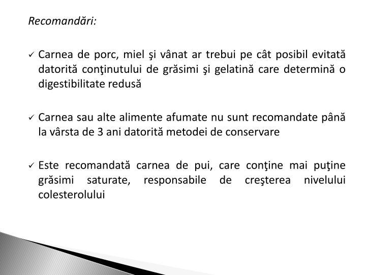 Recomandri: