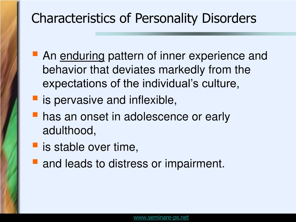 Characteristics of Personality Disorders