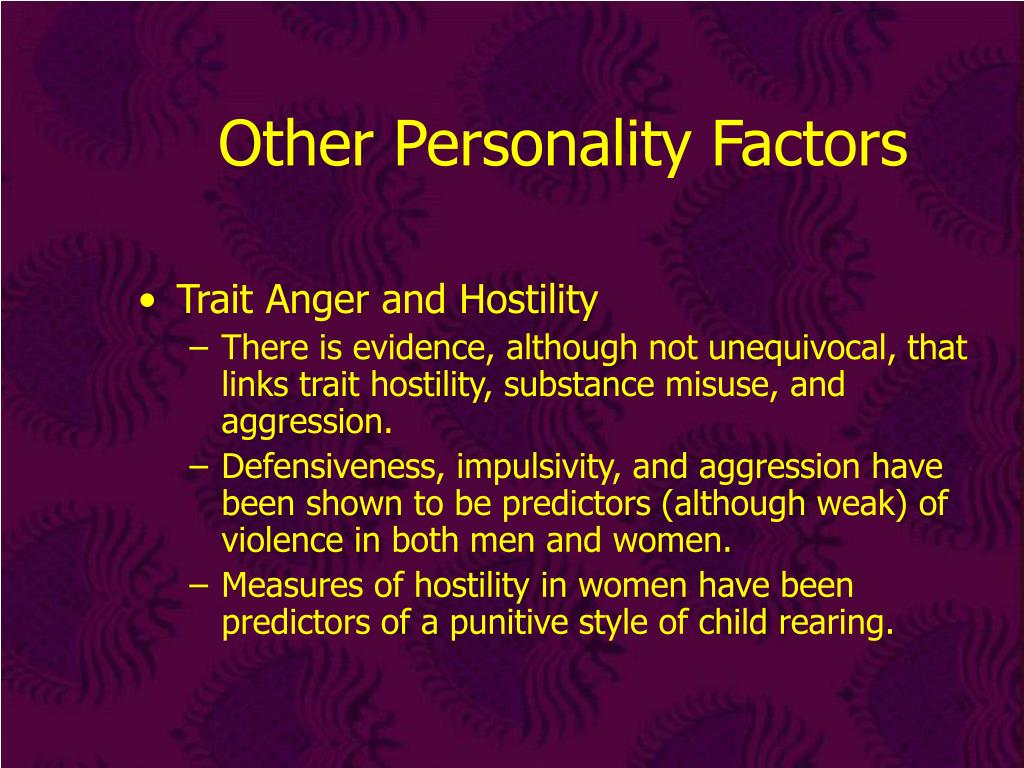 Other Personality Factors