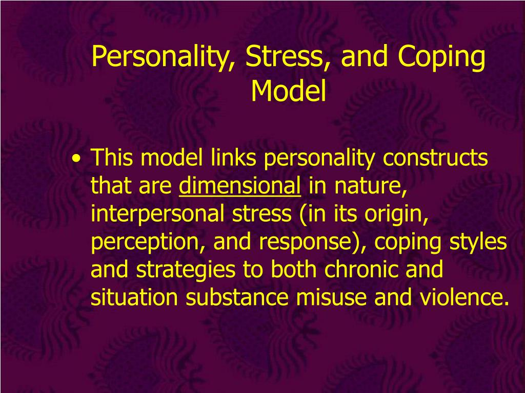 Personality, Stress, and Coping Model