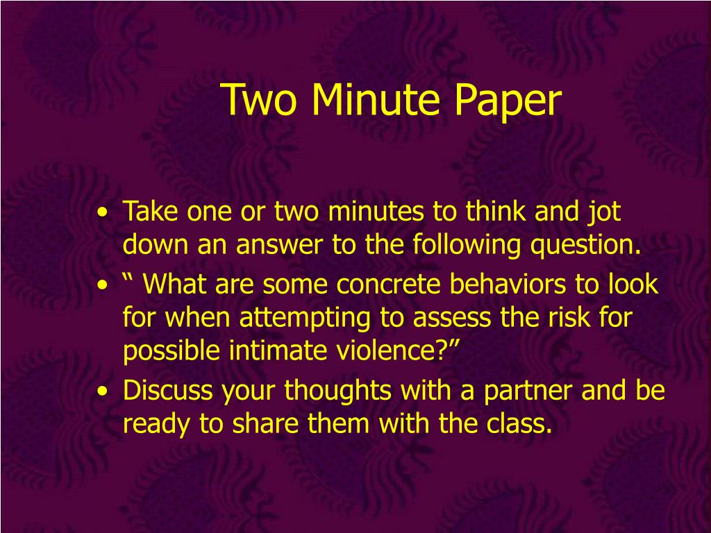 Two Minute Paper