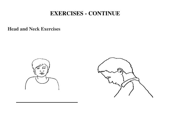 EXERCISES - CONTINUE