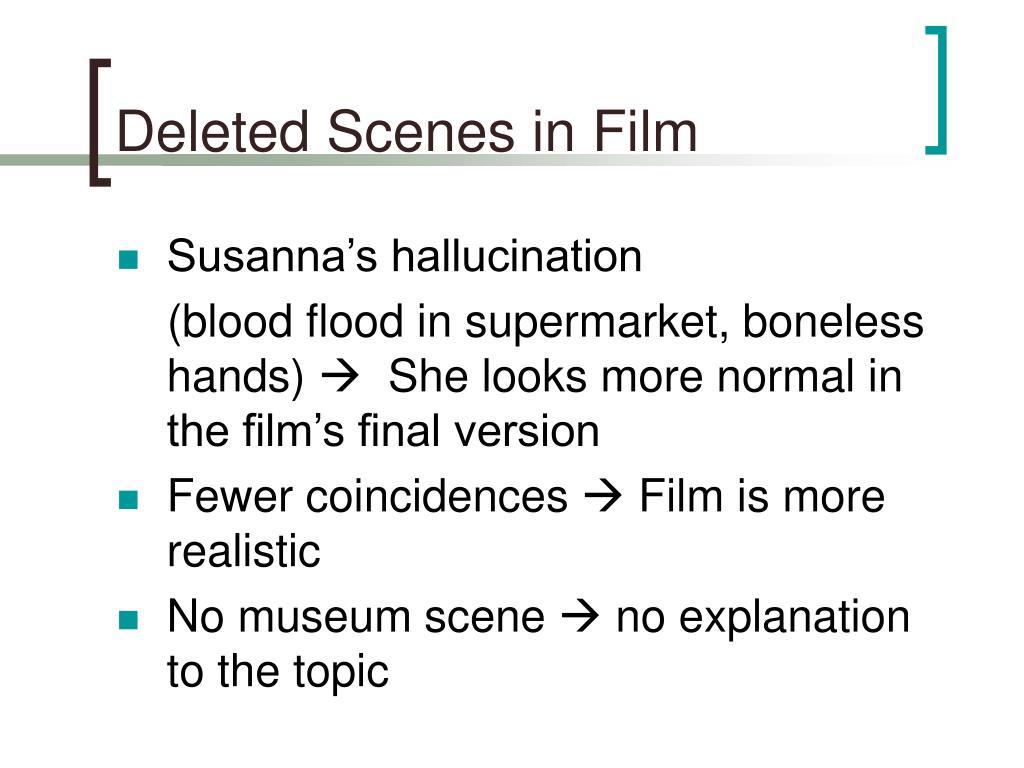Deleted Scenes in Film
