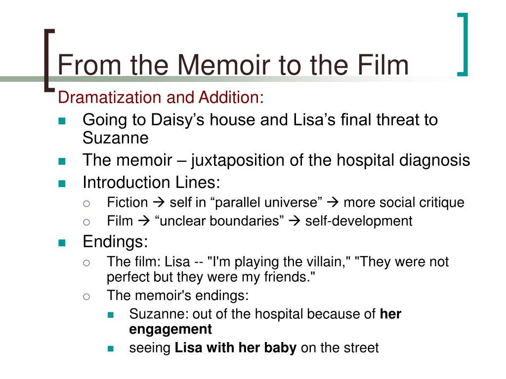 From the Memoir to the Film