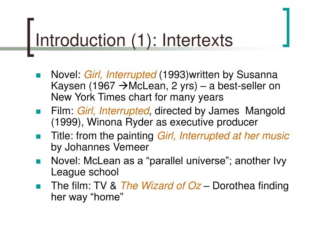 Introduction (1): Intertexts