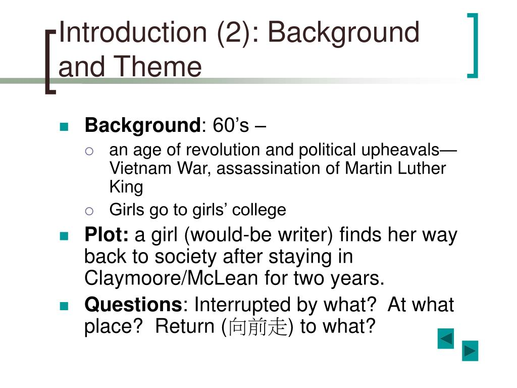 Introduction (2): Background and Theme