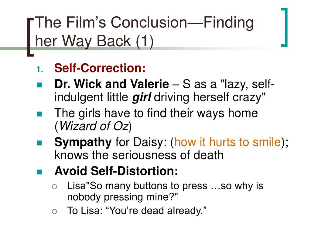 The Film's Conclusion—Finding her Way Back (1)
