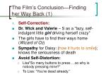 the film s conclusion finding her way back 1
