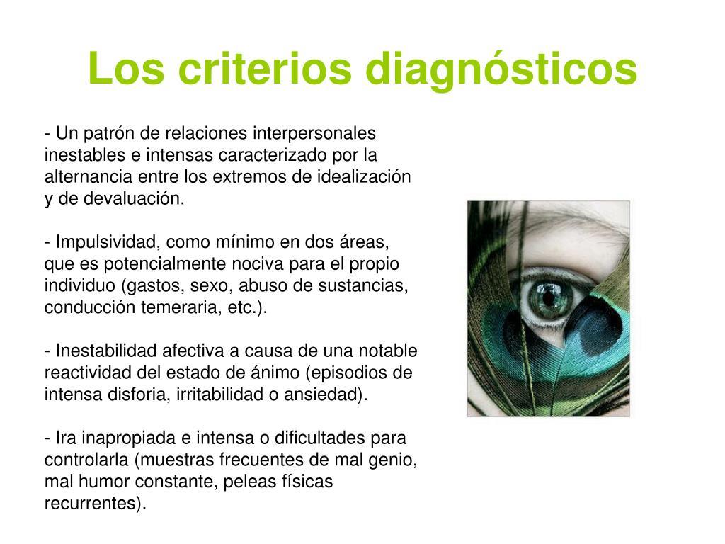 Los criterios diagnósticos